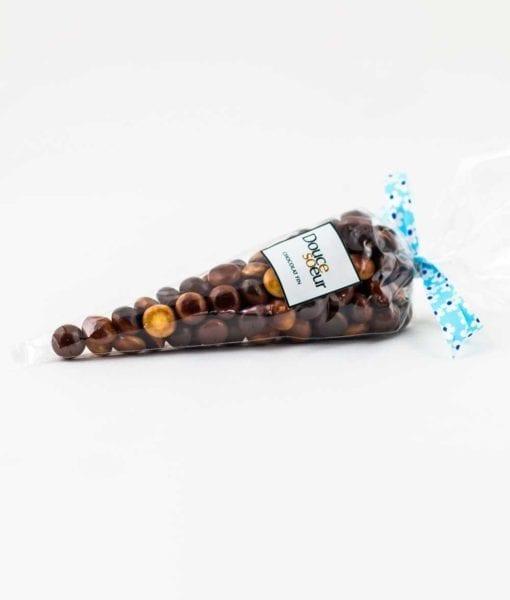 Cônes de perles au chocolat - DouceSoeur - Chocolaterie Montréal