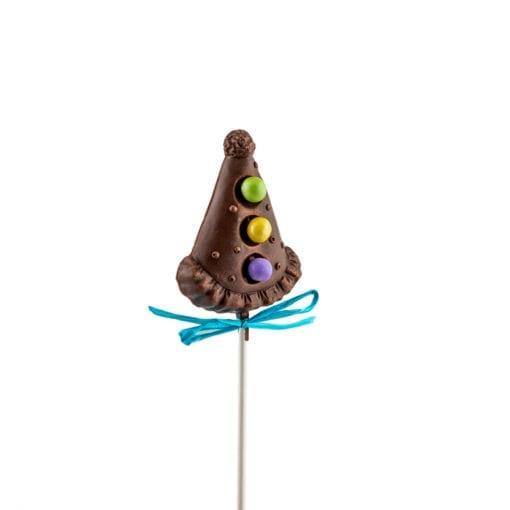 Suçons en chocolat de forme de chapeau de fête