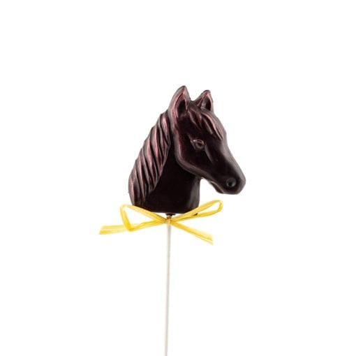 Suçons en chocolat en forme de tête de cheval
