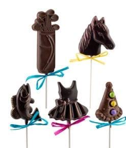 Suçons de chocolat variés