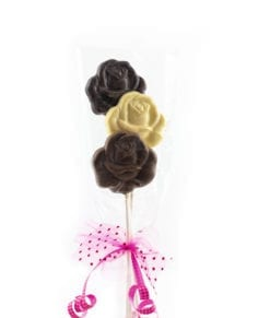 Trio de fleurs en chocolat pour la Fête des Mères