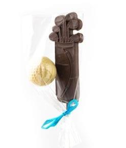 Chocolat pour golfeur - sac de golf et balle en chocolat