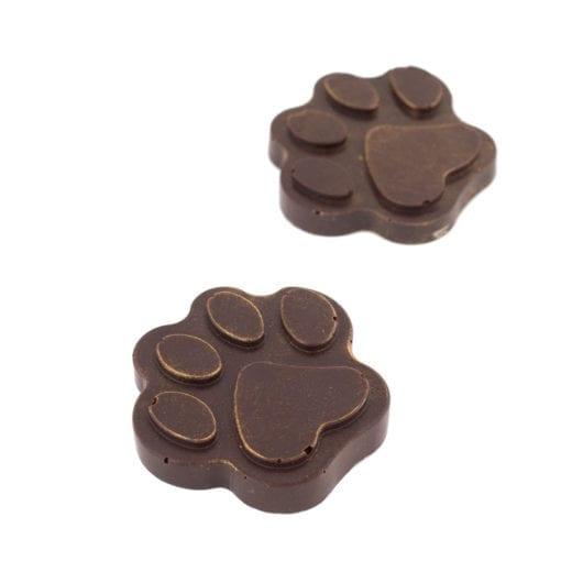 Pattes d'animaux (chien) en chocolat de qualité