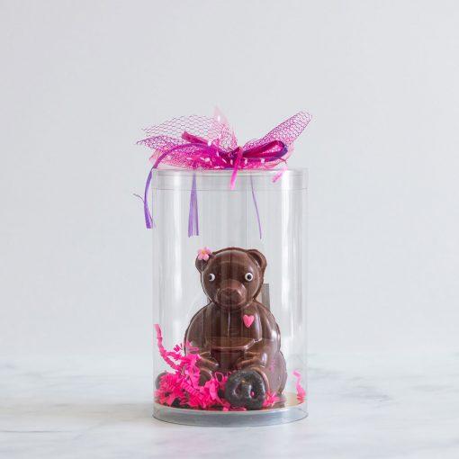 Chocolat pour Pâques en forme d'ourson fait dans l'est de Montréal dans Tétreaultville (Mercier-Est).