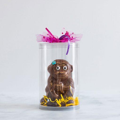 Chocolat pour Pâques en forme de singe fait à Montréal
