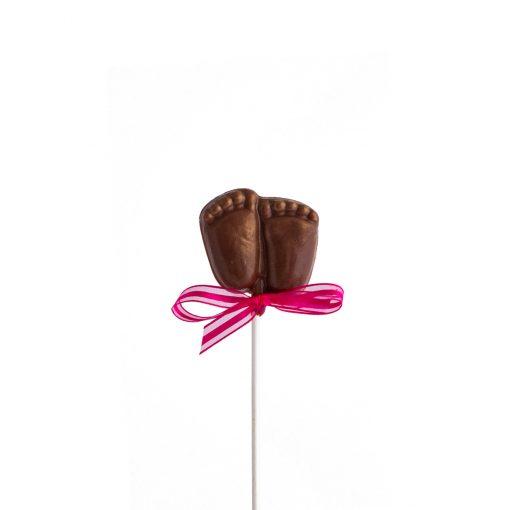 Suçon en chocolat petit pied de bébé - fille